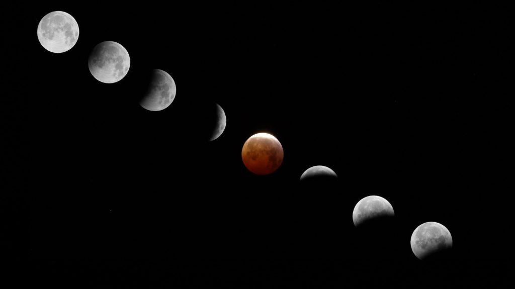 Eclipsi de Lluna 2019 Alella